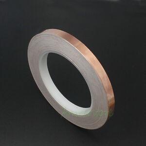 10 roll 10mm x33M 108ft Guitar EMI Shield Single Conductive Copper Foil Tape