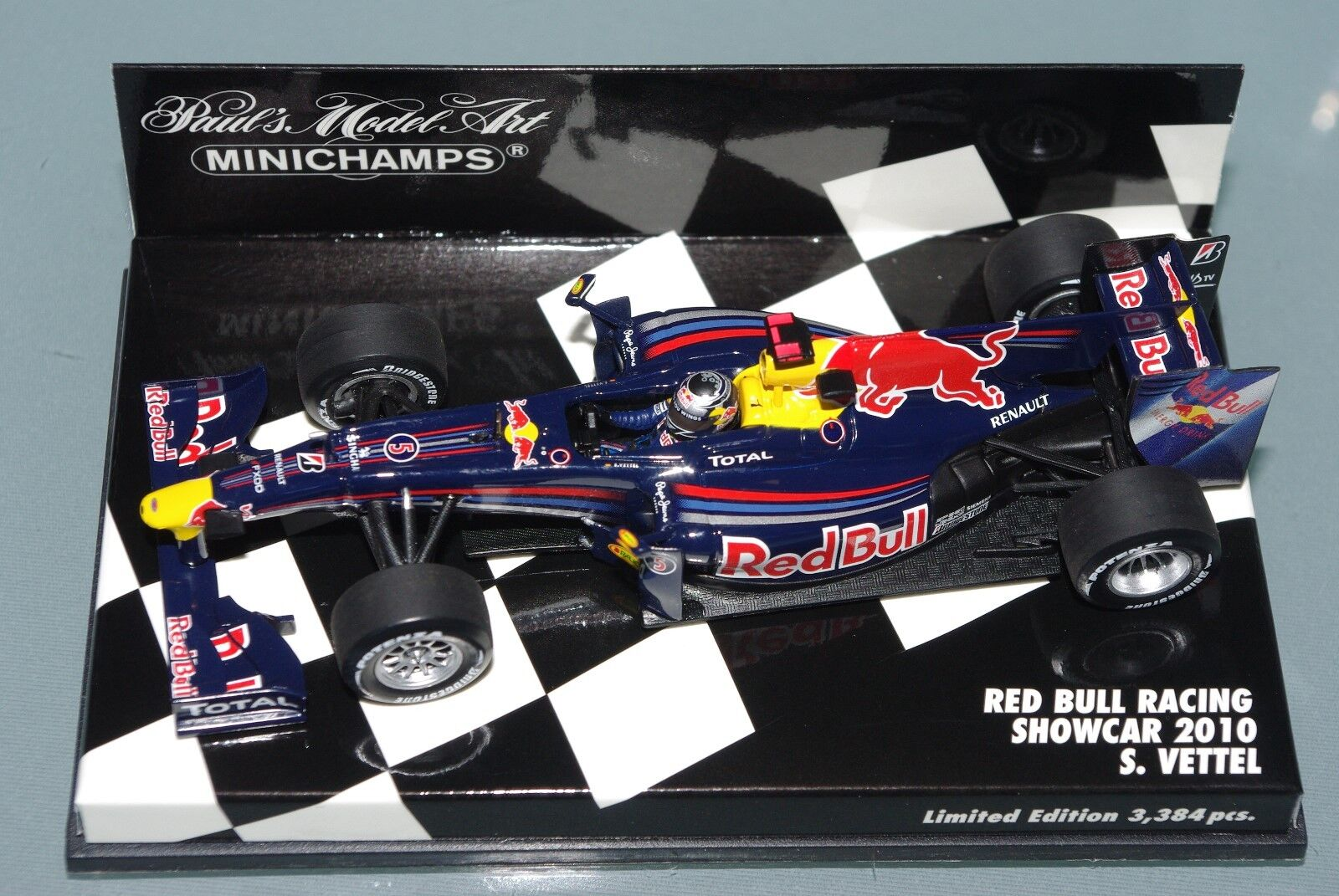 Minichamps F1 1 43 RED BULL RACING SHOWCAR 2010 SEBASTIAN VETTEL - L.E. 3384pcs