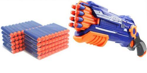 100pcs Ricarica Freccette Soft PROIETTILI testa rotonda per blaster Nerf N-Strike Pistola giocattolo