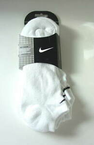 NIKE-White-Low-Cut-No-Show-Peds-Socks-3-Pairs-Mens-Size-10-13-NEW-NWT