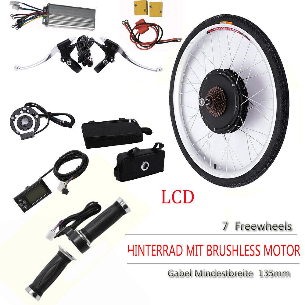 26 RUOTA POSTERIORE 500w 36v ebike CONVERSION KIT bicicletta elettrica conversione frase LCD DHL