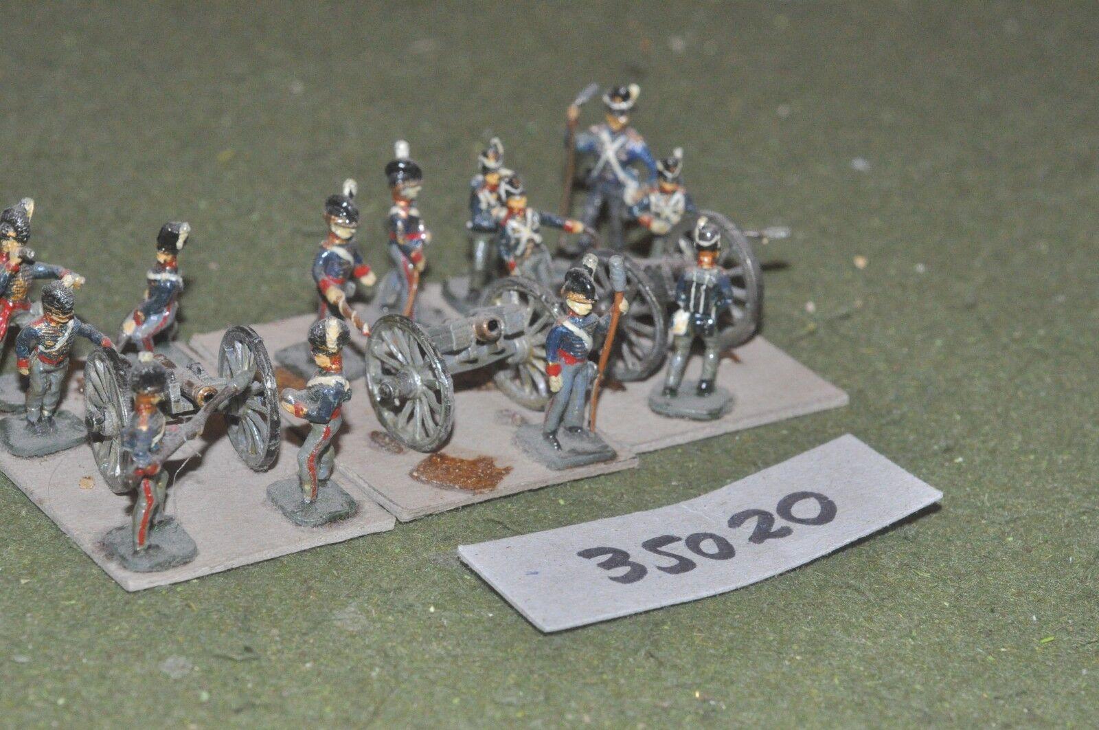 25mm napoleonic   british - 3 guns & crews - art (35020)