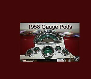 Corvette-parts-1958-1959-1960-1961-1962-Gauge-Pod-Housing-Cans-Bezels