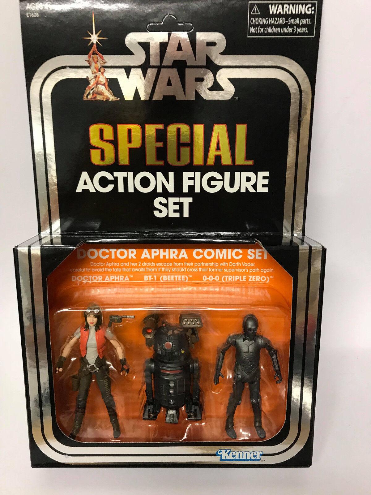 Star Wars SDCC 2018 Vintage Collection Dr Aphra, 000 & BT-1 NEW