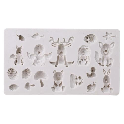 Details about  /Silicone Mould Fondant Cake Chocolate Forest Animal Baking Mold YS