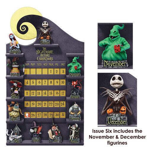Disney Perpetual Calendar Nightmare Before Christmas Figurine Set of 2 NOV DEC
