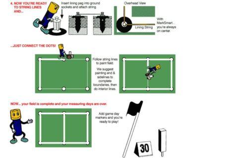 SLP-25 Soccer Football Baseball Field Corner Marking Lining Marker Kit 25 pc