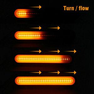 Waterproof-2pcs-LED-Stop-Brake-Light-Strip-Tail-Turn-Signal-Flowing-Indicator