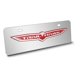 Honda 3D Black Logo Half-size Chrome Stainless Steel License Plate