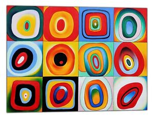 Details About Wassily Kandinsky Concentric Circles Oil Paint Reprint On Framed Canvas Art