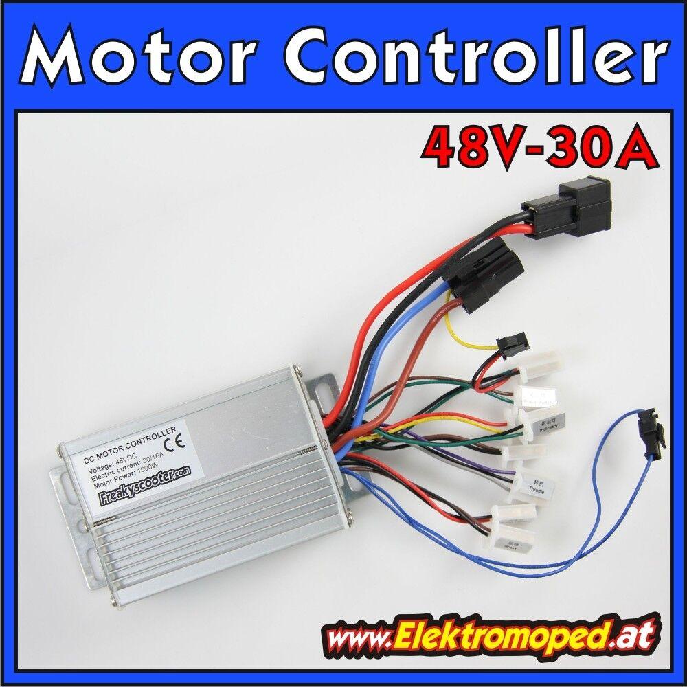 Ersatzteil Elektro-Scooter Motor Controller 48V 30A OK10S 1000W ECO-Turbo Regler