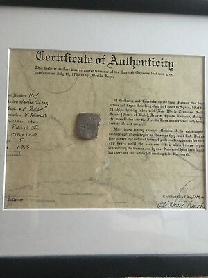 Coins & Paper Money Radient Authentic Spanish Shipwreck Coin 1733 Fleet Fine Craftsmanship