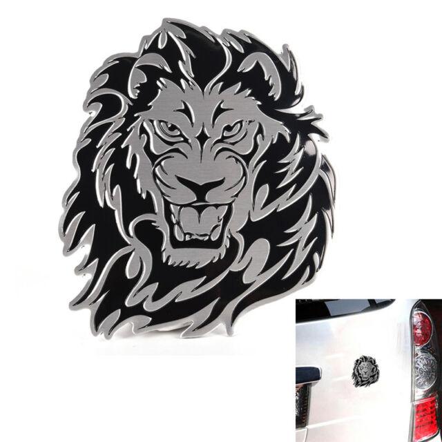 3d Car Aluminum Alloy Sticker Personality Lion Auto Logo Badge