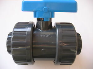 PVC double Union Filetage BSP 1/2 &#034;valve 							 							</span>