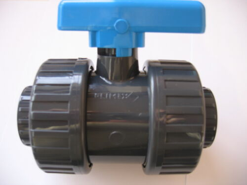 PVC double Union Filetage BSP 1/2 valve