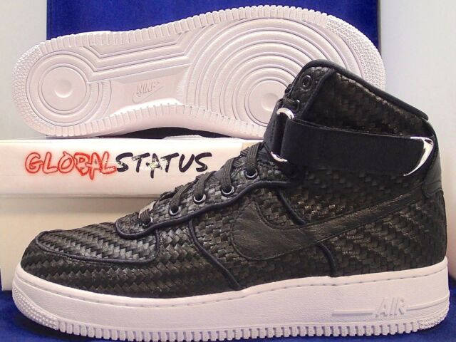 NIKE AIR FORCE 1 HIGH '07 LV8 WOVEN BLACK WHITE RETRO SHOES 843870 001 SIZE 10