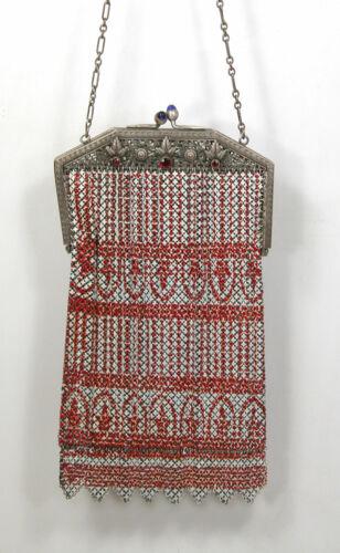Antique Jeweled Rhinestone Mandalian Flapper Enam… - image 1