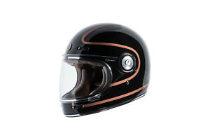a10b626e Torc T1 Gloss Black Copper Pin Retro DOT Full Face Motorcycle Bike ...