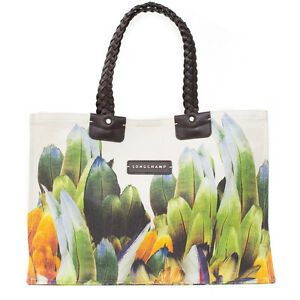 7737a8f45a Image is loading Longchamp-Authentic-Canvas-Flower-Floral-Flora-Tulip-New-