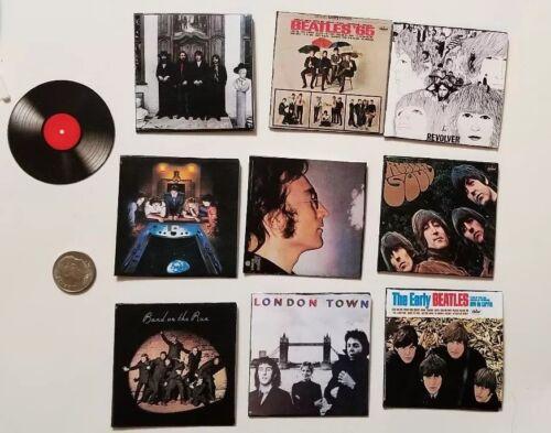"Miniature Record Album Barbie  Action Figure 2/""  1//6 Beatles Lennon Hey Jude"