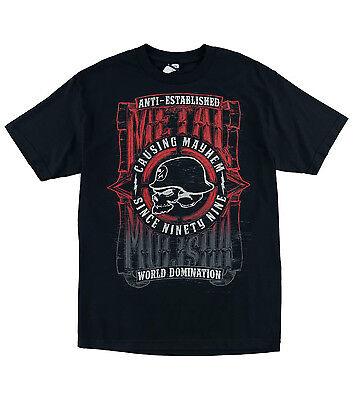Metal Mulisha Galactic Skull T Shirt Mens Black Tee MX FMX M15518128E BLK