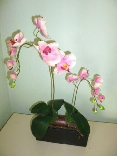 Artificial flowers & plants Phaleanopsis Orchids on log F55