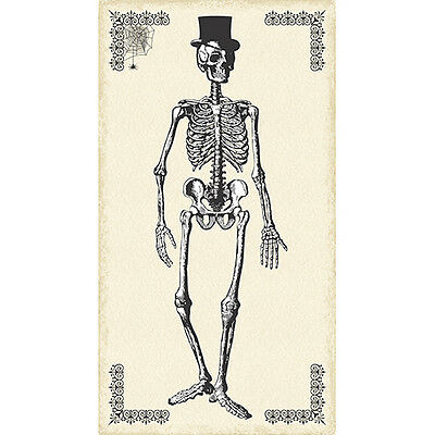Chillingsworth Skeleton Fabric 24inch Panel by Echo Park Gothic Free US Ship