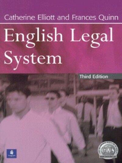 English legal system by Catherine Elliott (Paperback / softback)