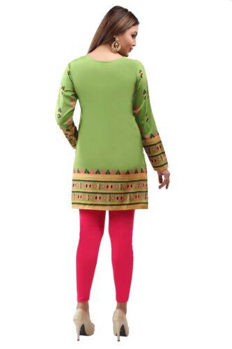 A-D UNIFIEDCLOTHES® DRESS PRINTED SHORT INDIAN KURTA KURTI TUNIC TOP SHIRT 161