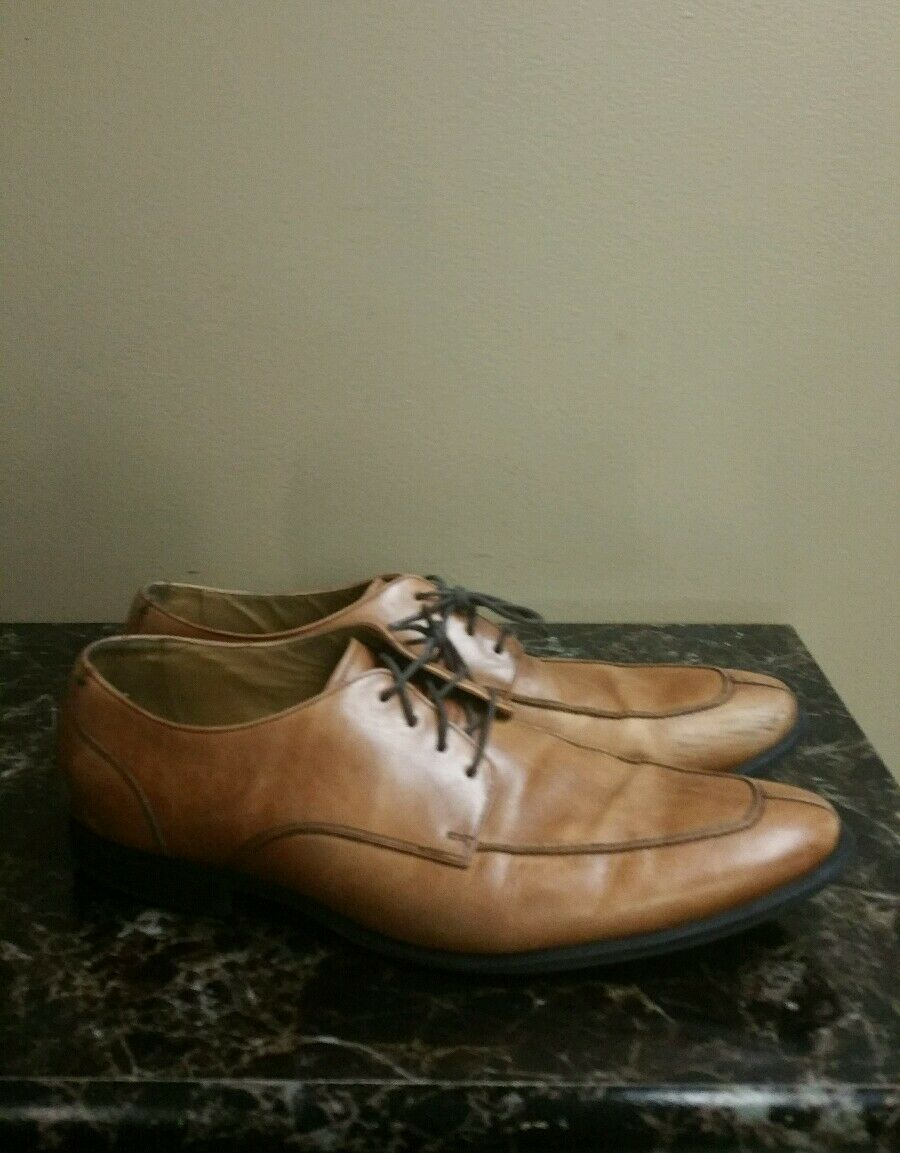 Cole Haan Adams Split Ox.II  C11990 British Tan Leather Split Toe Oxfords Sz 12