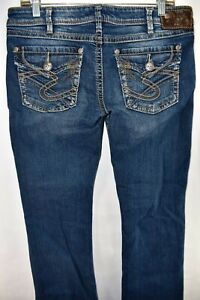 Silver-Jeans-Pioneer-Flap-Womens-Bootcut-Jeans-Size-30x31-Meas-33x30-Boot-Cut