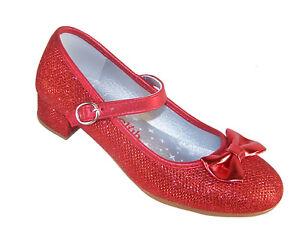 Tacco Glitter Woz Rosso Luccicante Scarpe Ragazze Dorothy Festa Con  wEYBFn8qx bd01be40b32