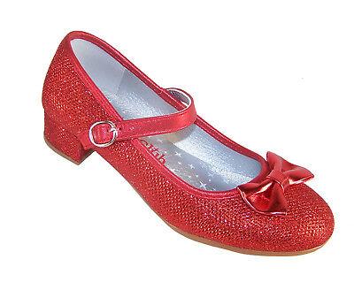 Rojo de niñas brillante Fiesta Zapatos tacón Dorothy Woz Dama Honor OCASIÓN