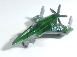 Hot-Wheels-2010-Poison-Arrow-Propeller-Plane-Metalflake-Silver-HW-Racing-Rigs