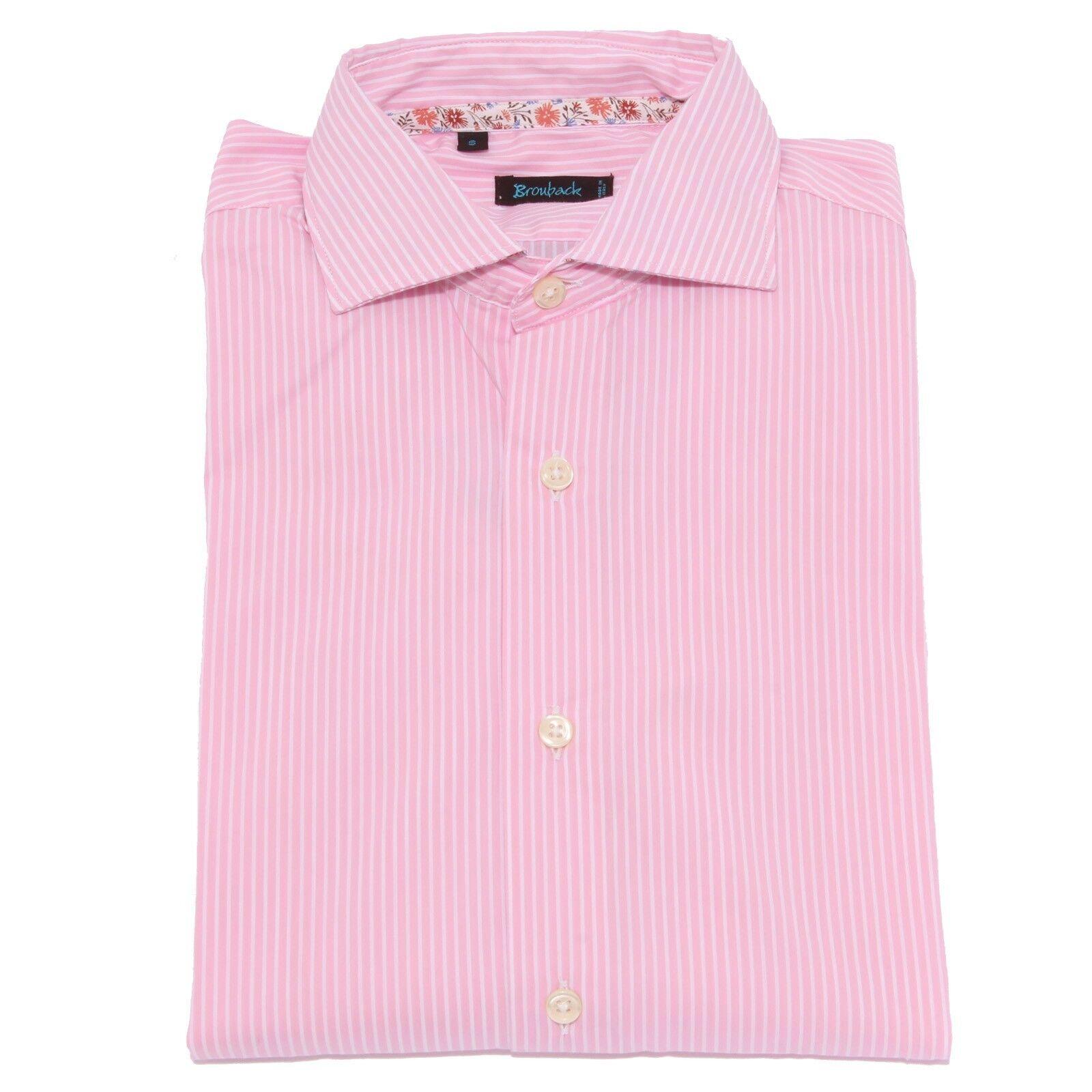 1577X camicia uomo BROUBACK LUXURY WASHED shirt stripes rosa bianca man