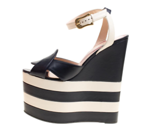 Gucci Sally Navy/White Ankle Strap