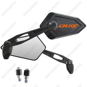 Retroviseurs-miroir-Street-carbon-Look-Logo-Orange-ktm-duke-640-690-125-200-390