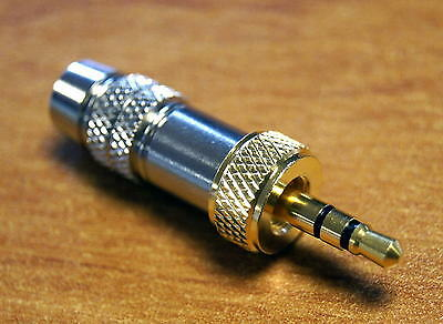 "3.5mm 1/8"" screw lock jack plug stereo RTS gold pins 3,5 for Sennheiser G1 G2 G3"