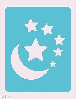Stencil Stars and Moon Cards Scrapbook Crafts Paint Color Wall Decoration  #AAA2