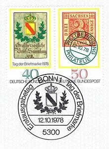 Belle Rfa 1978: Jour Du Timbre Nº 980 Et 981 Comme Une Balance Droit Paire! 1a! 153-afficher Le Titre D'origine