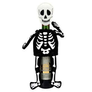 Skeleton-Skull-Plush-Figure-Halloween-Party-Wine-Bottle-Bag-Cover-Decor-Gift