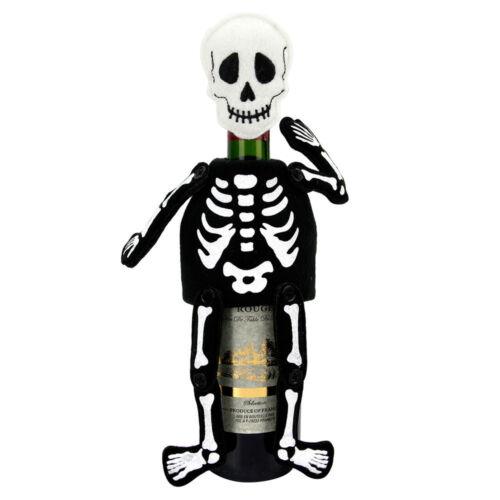Day of the Dead Skeleton Skull Bone Figure Halloween Party Wine Bottle Bag Cover