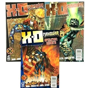 X-O-Manowar-1-3-Volume-2-1997-3-Comic-Book-Lot-VF-NM-1st-Prints