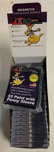 Lot of 25 Pro-Mold 55pt Magnetic One Touch Card Holder Holds SLEEVED CARD MH55S