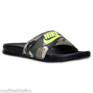 7e58ad60675c94 New Men s Nike JDI Benassi Camouflage Slides Sandals Flip flops CAMO ...