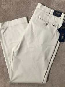 Ralph-Lauren-Polo-Sand-Beige-Classic-Fit-Chinos-Hose-Hosen-34-034-NEW-tags