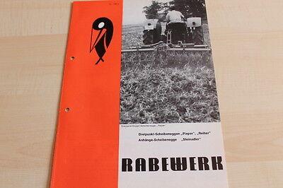 Prospekt 02/1972 Radient 144483 Pieper Reiher Steinadler Rabewerk Scheibenegge
