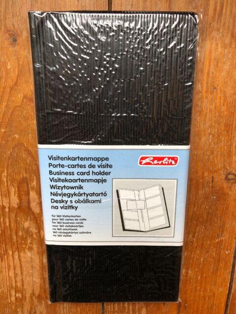 Herlitz Visitenkarten Mappe Pu Kunstledereinband Schwarz