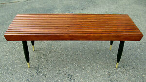 Paul Mccobb Planner Group Winchendon 4 Slatted Wood Bench Coffee Table Ebay