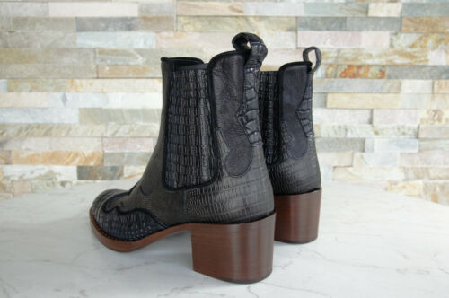 Car Kroko 38 Schuhe Shoe Stiefeletten 490€ Ehem Neu Cowboy Schwarz Uvp Gr Kdt81m fwZfr